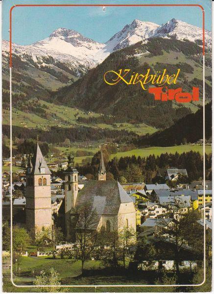 Post Card Austria Tirol Kitzbuhel gegen Suden