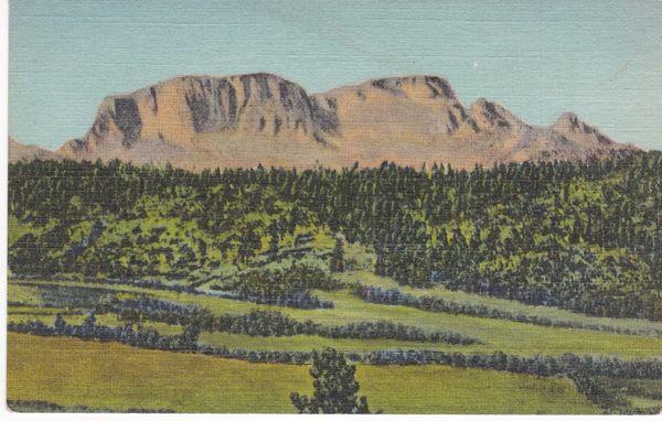 Post Card United States New Mexico Santa Fe Trail Hermit's Peak