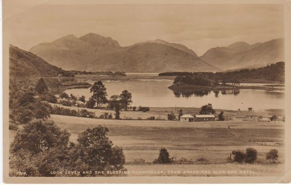 Post Card Scotland Argyll Loch Leven and the Sleeping Chancellor