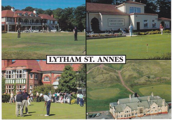 Post Card Lancashire Lytham St Annes Golf 4 views