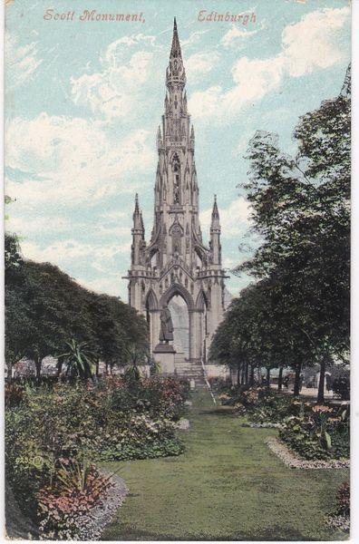 Post Card Scotland Edinburgh Scott Memorial 1910