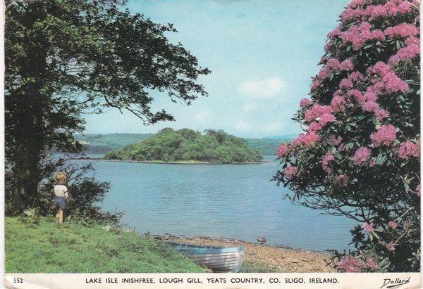 Post Card Ireland Southern Ireland co. Sligo Lake Isle Inishfree Lough Gill