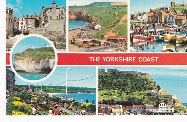 Post Card Yorkshire The Yorkshire Coast 5 views
