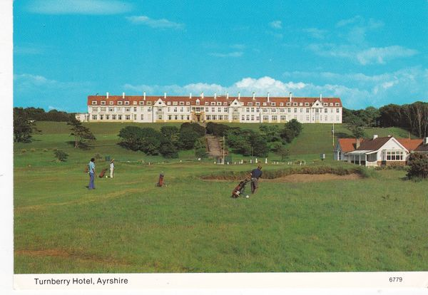 Post Card Scotland Ayrshire Turnberry Hotel