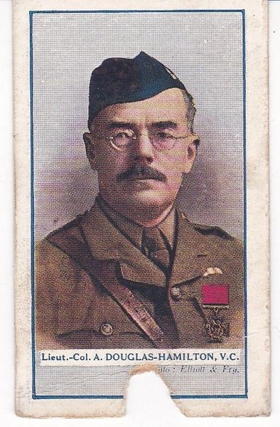 Cigarette Cards Gallaher Great War VC Heroes 4th series No 95 Lt Col A Douglas-Hamilton