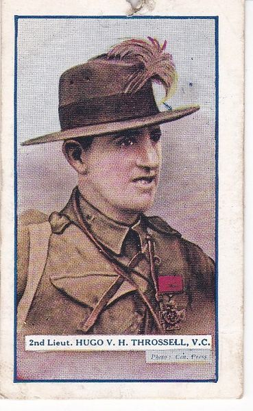 Cigarette Cards Gallaher The Great War Victoria Cross Heroes 3rd series of 25 No 71 2nd Lieut Hugo V H Throssell