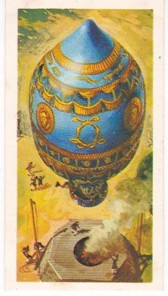 black back reprint No 01 Montgolfier Balloon
