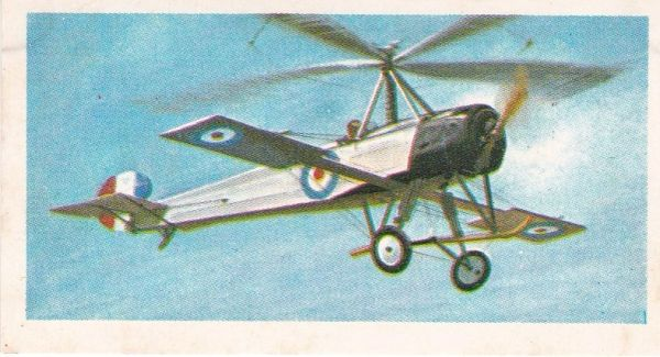 black back reprint No 13 Cierva Autogiro