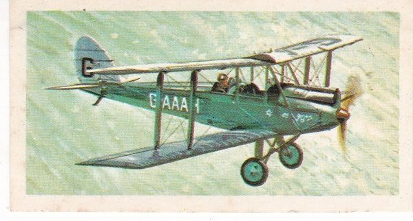 black back reprint No 14 de Havilland Moth