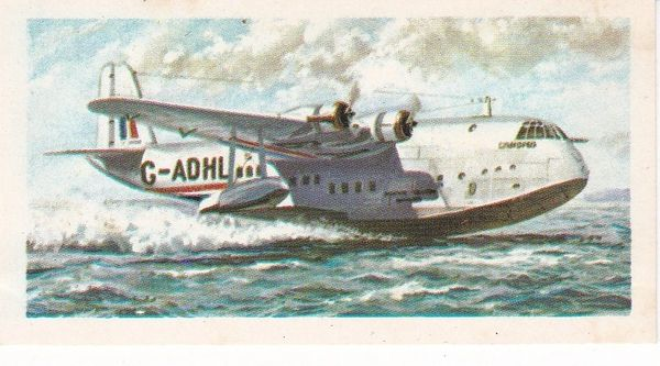 black back reprint No 21 Short Empire Flying Boat
