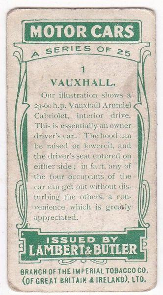 No. 01 Vauxhall
