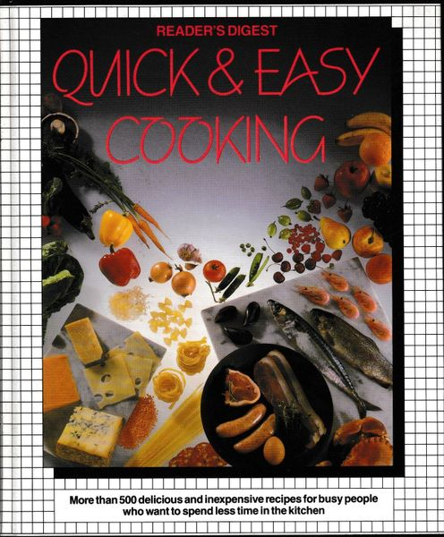 Reader's Digest QUICK & EASY COOKING 1988 hb