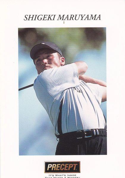 golfer SHIGEKI MARUYAMA (unsigned) with Precept logo