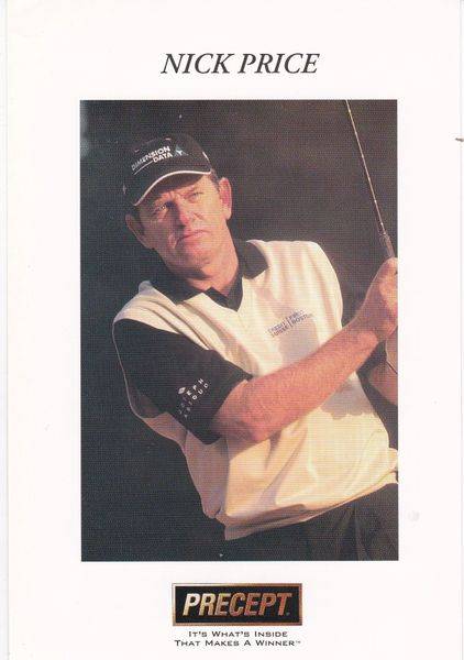 golfer NICK PRICE (unsigned) with Precept logo