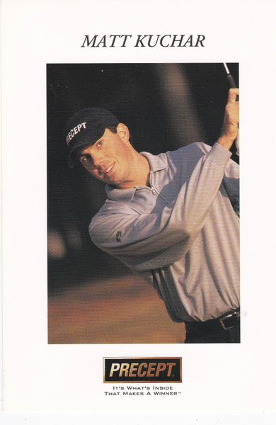 golfer MATT KUCHAR driving (unsigned) with Precept logo