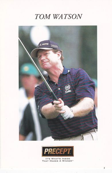 golfer TOM WATSON (unsigned) with Precept logo