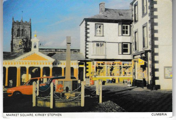 Postcard Cumbria Kirkby Stephen Colourmaster R80931 used dated 1986