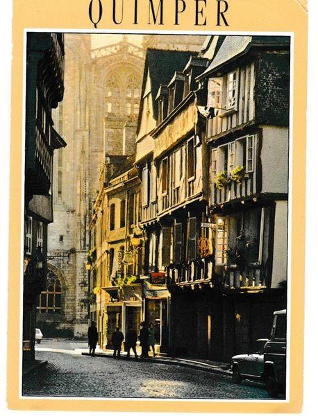 Postcard France Quimper La Bretagne en Couleur Le rue Kereon