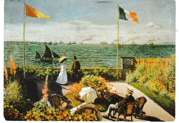 Post Card Art Terasse bei Sainte Adresse, 1866 by Claude Monet