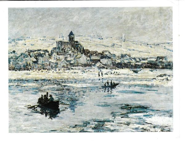 Post Card Art Vetheuil in Winter by Claude-Oscar Monet The Frick Collection, New York
