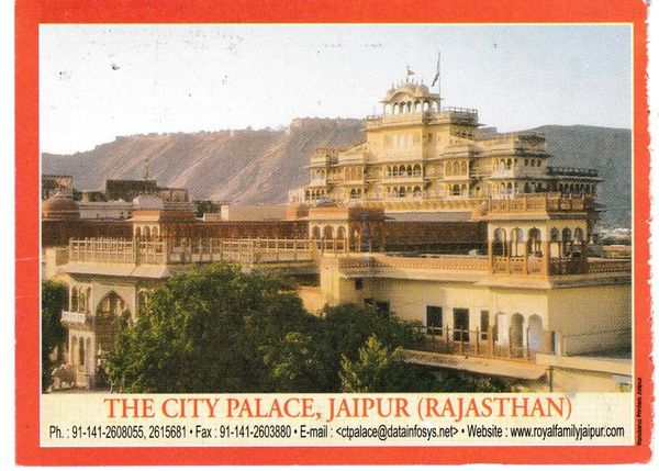 Post Card Asia India Rajasthan - Jaipur The City Palace
