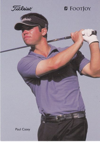 golfer PAUL CASEY (unsigned) with Titleist and Footjoy logos