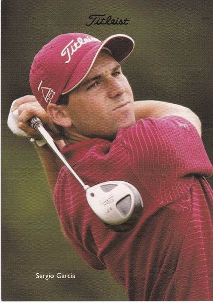 golfer SERGIO GARCIA (unsigned) with Titleist logo