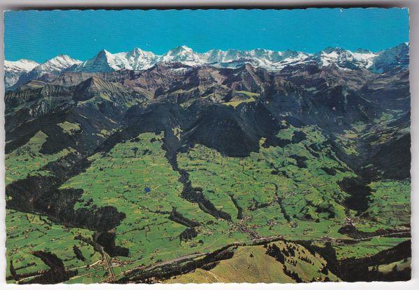 Postcard SwitzerlandBlick v. Niesenkulm ina Kandertal