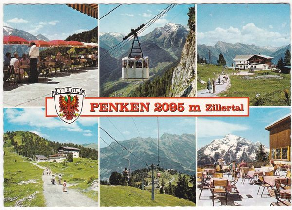 Postcard Austria Tirol Penken 4 views