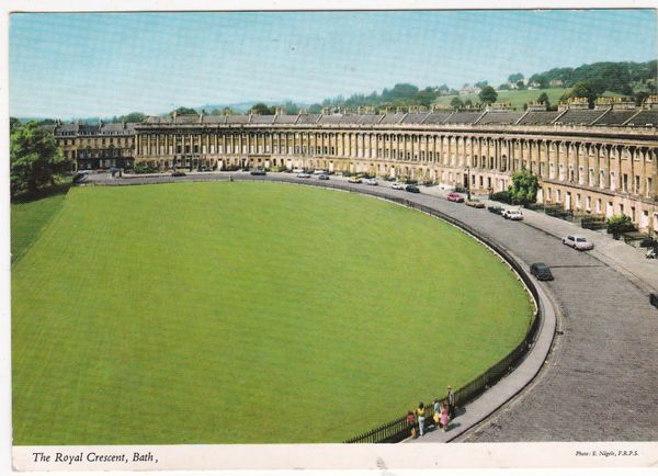 Postcard Somerset Bath – The Royal Crescent