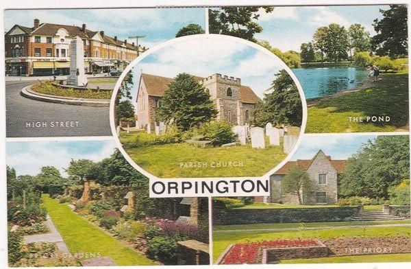 Postcard Kent Orpington 5 views