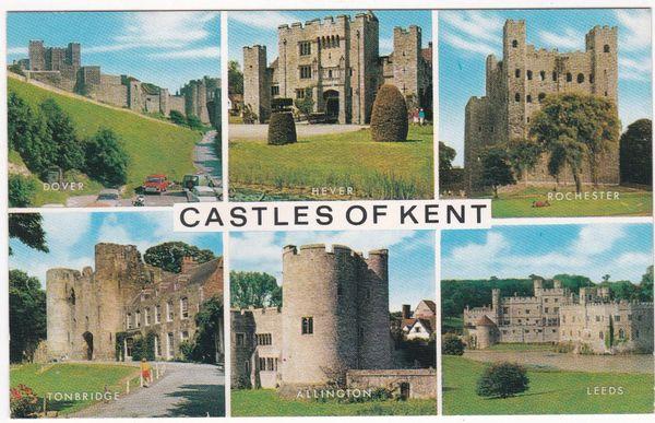 Postcard Kent Castles of Kent 6 views