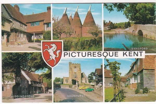 Postcard Kent Picturesque Kent 6 views