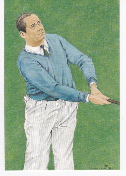 golfer WALTER HAGEN winner 84th Open Championship 1929 with statistics