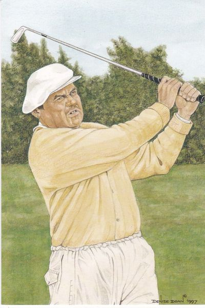 golfer BOBBY LOCKE winner 81st Open Championship 1952 with statistics
