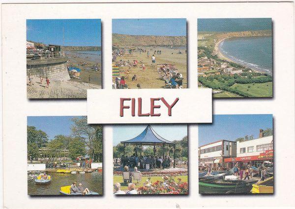 Postcard Yorkshire Filey 6 views
