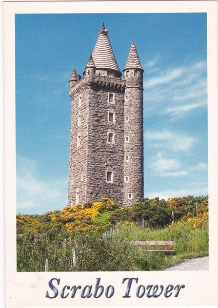 Postcard Northern Ireland co. Down Scrabo Tower