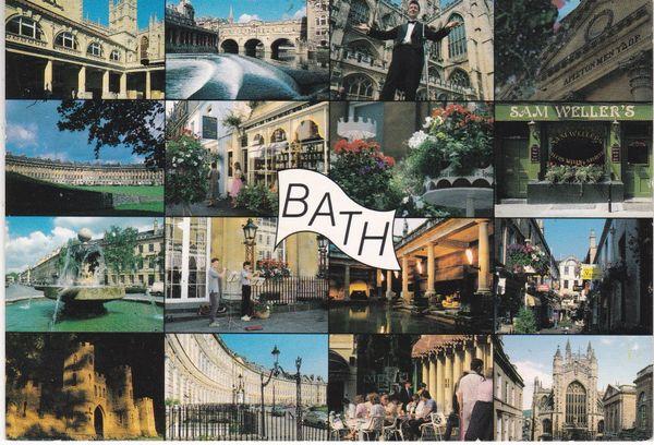 Postcard Somerset Bath 16 views