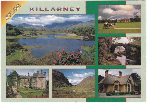 Postcard Ireland Killarney 6 views