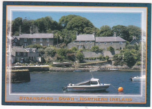 Postcard Northern Ireland co. Down Strangford