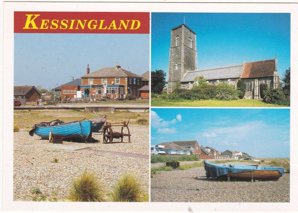 Postcard Suffolk Kessingland 4 views
