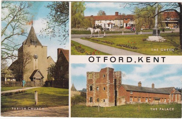 Postcard Kent Otford 3 views