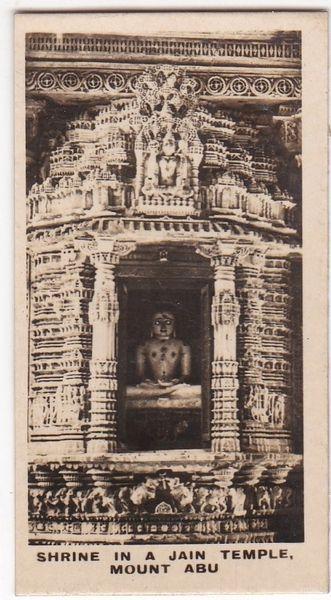 Cigarette Card Westminster : Indian Empire (Second Series) No. 38 Mount Abu Jain Shrine