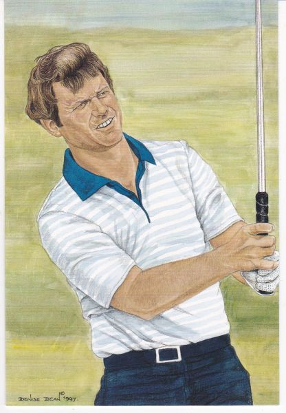 golfer TOM WATSON winner 111th Open Championship 1982 with statistics