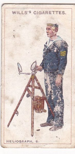 Cigarette Card Wills Signalling Series No. 49 Heliograph 6