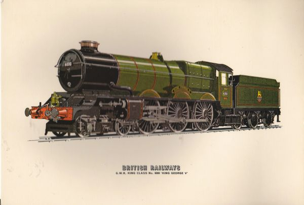 "Prescott-Pickup Railway Supercard BRITISH RAILWAYS No. 6000 ""King George V"""