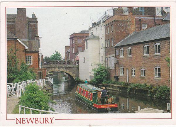Postcard Berkshire Newbury The Kennet and Avon Canal