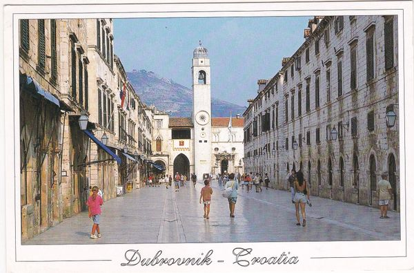 Postcard Croatia Dubrovnik – Stradun The Most Beautiful Street