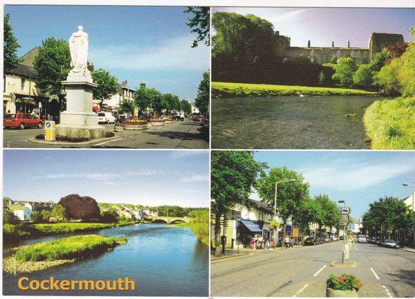 Postcard Cumbria Cockermouth 4 views