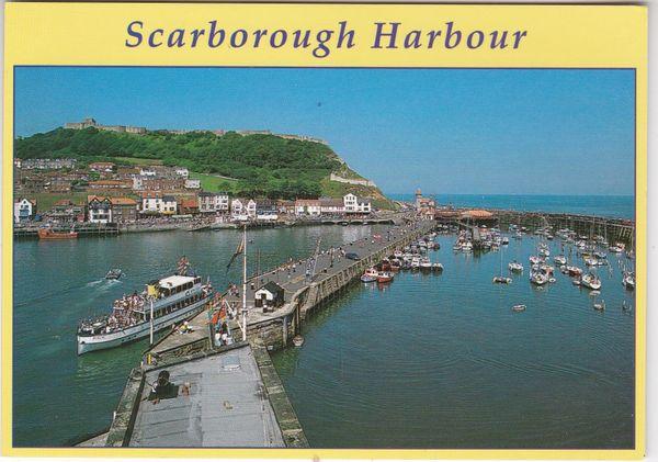 Postcard Yorkshire Scarborough Harbour